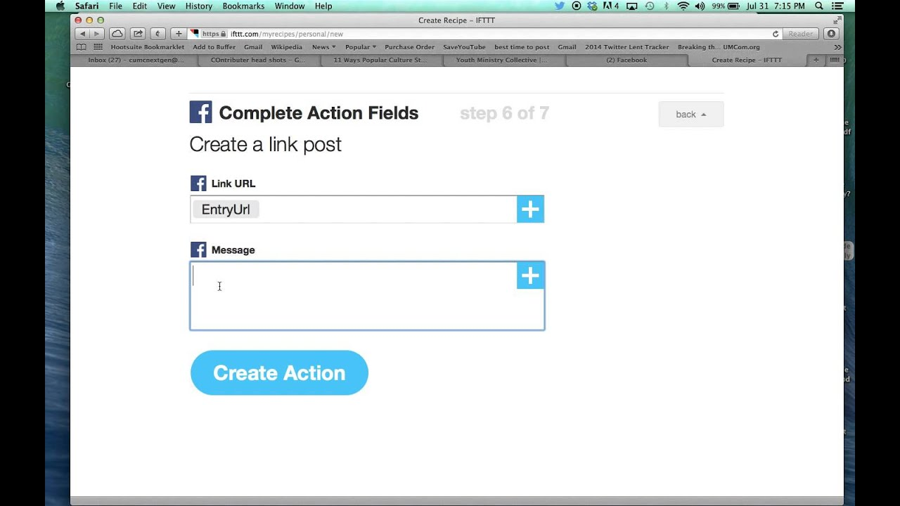 How to post an RSS to Twitter and Facebook using IFTTT com
