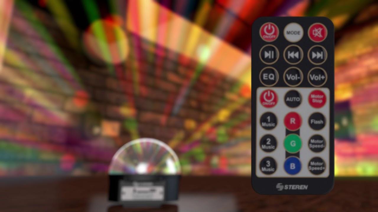 892f7b84396 ESFERA DE LUCES LED CON BOCINAS Y REPRODUCTOR USB SD   LED 050 - YouTube
