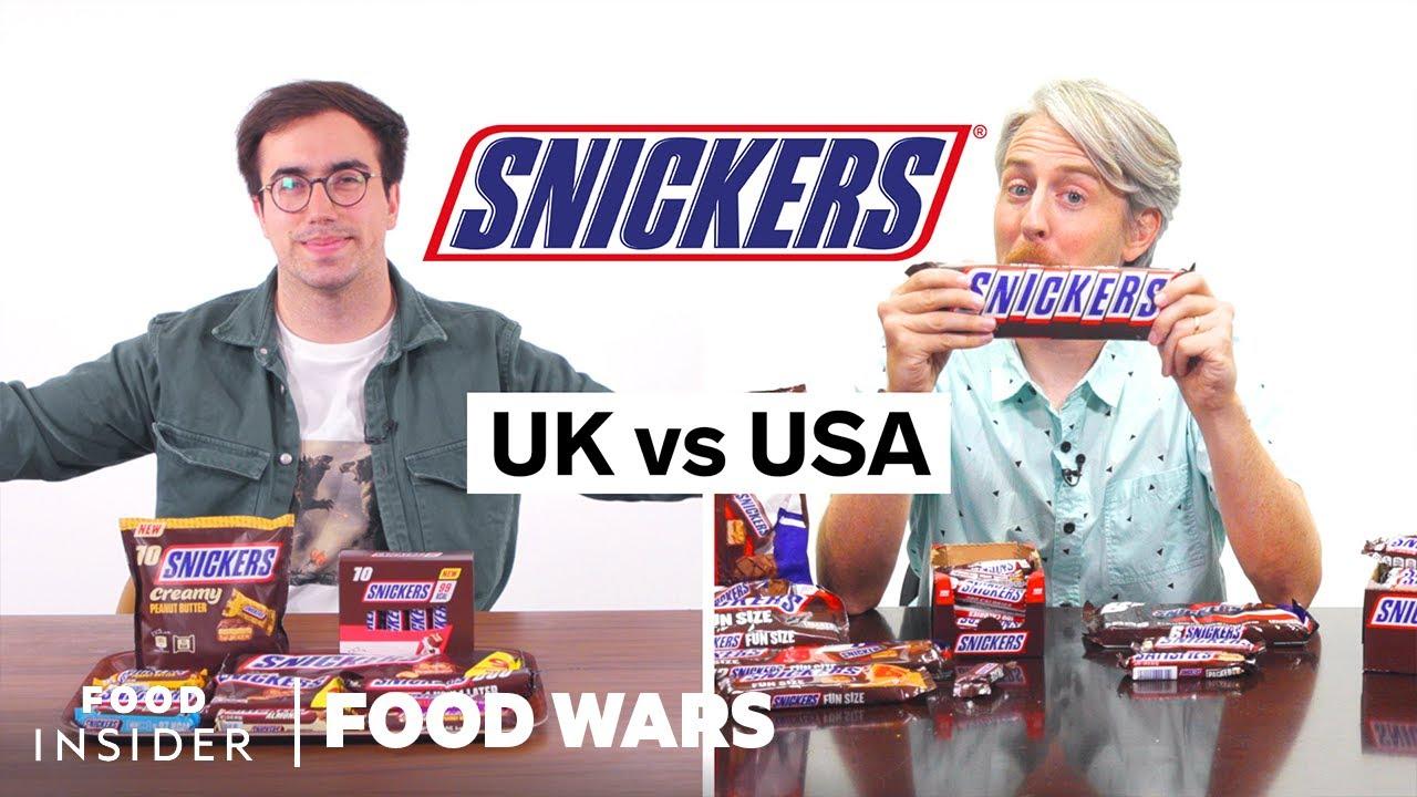 US vs UK Snickers | Food Wars
