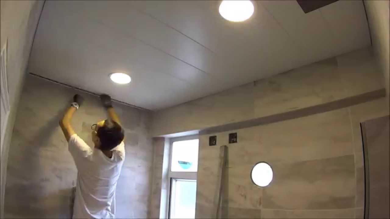 浴室假天花 bathroom celling www.shitai.hk - YouTube