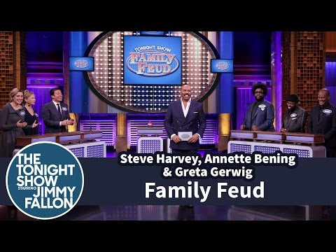 Thumbnail: Tonight Show Family Feud with Steve Harvey, Annette Bening and Greta Gerwig