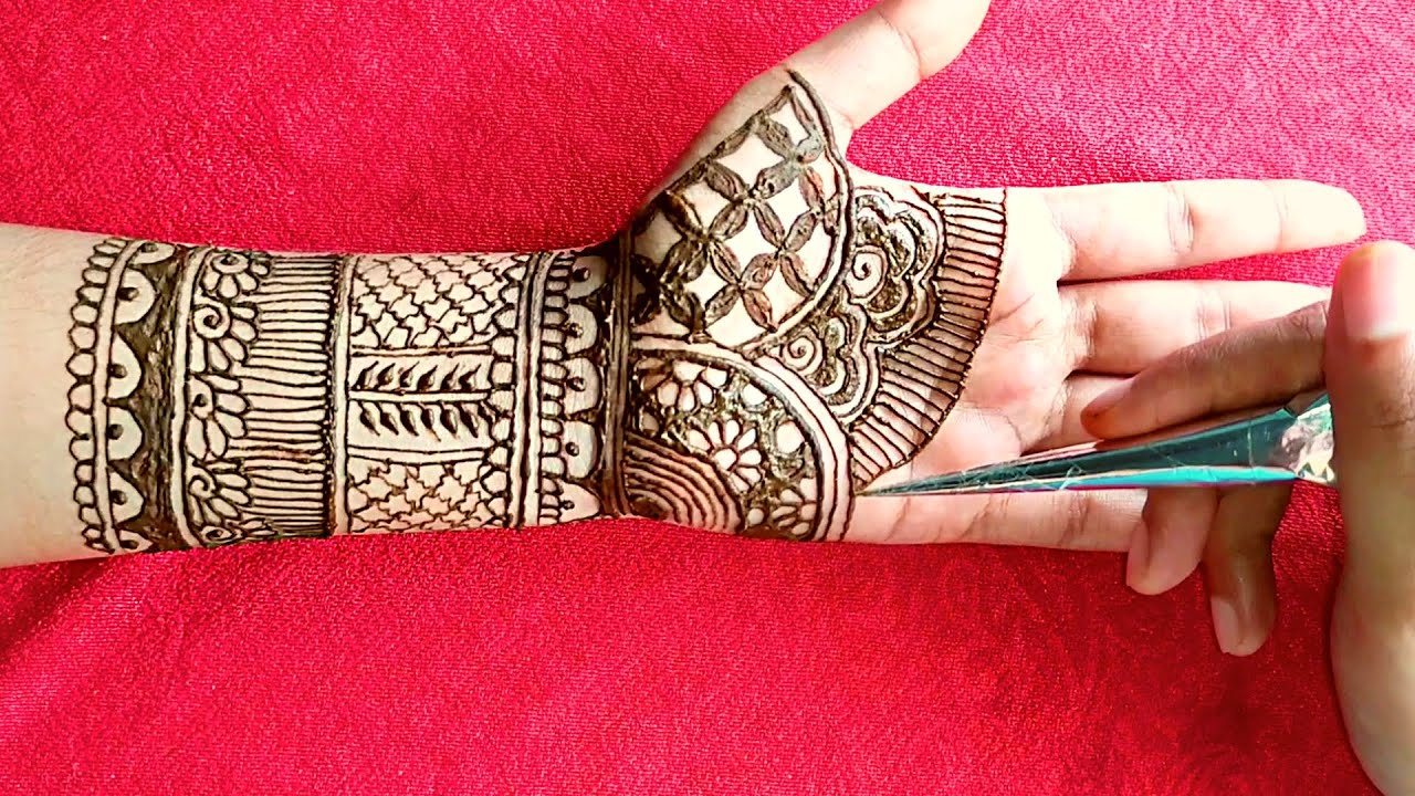 Full hand dulhan mehndi design for hands | Full hand mehndi design easy | Bridal Mehndi ka design