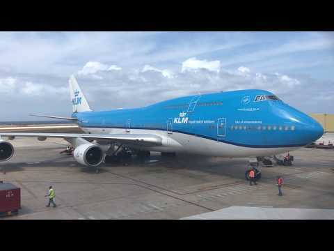 KLM Boeing 747-400 | Departure From Curaçao
