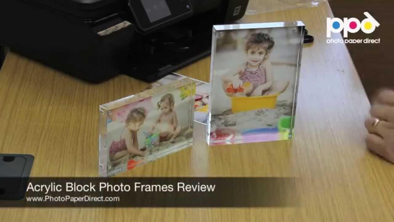 Acrylic Block Photo Frames Review - YouTube
