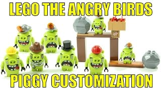 LEGO THE ANGRY BIRDS MOVIE PIGGY CUSTOMIZATION!!