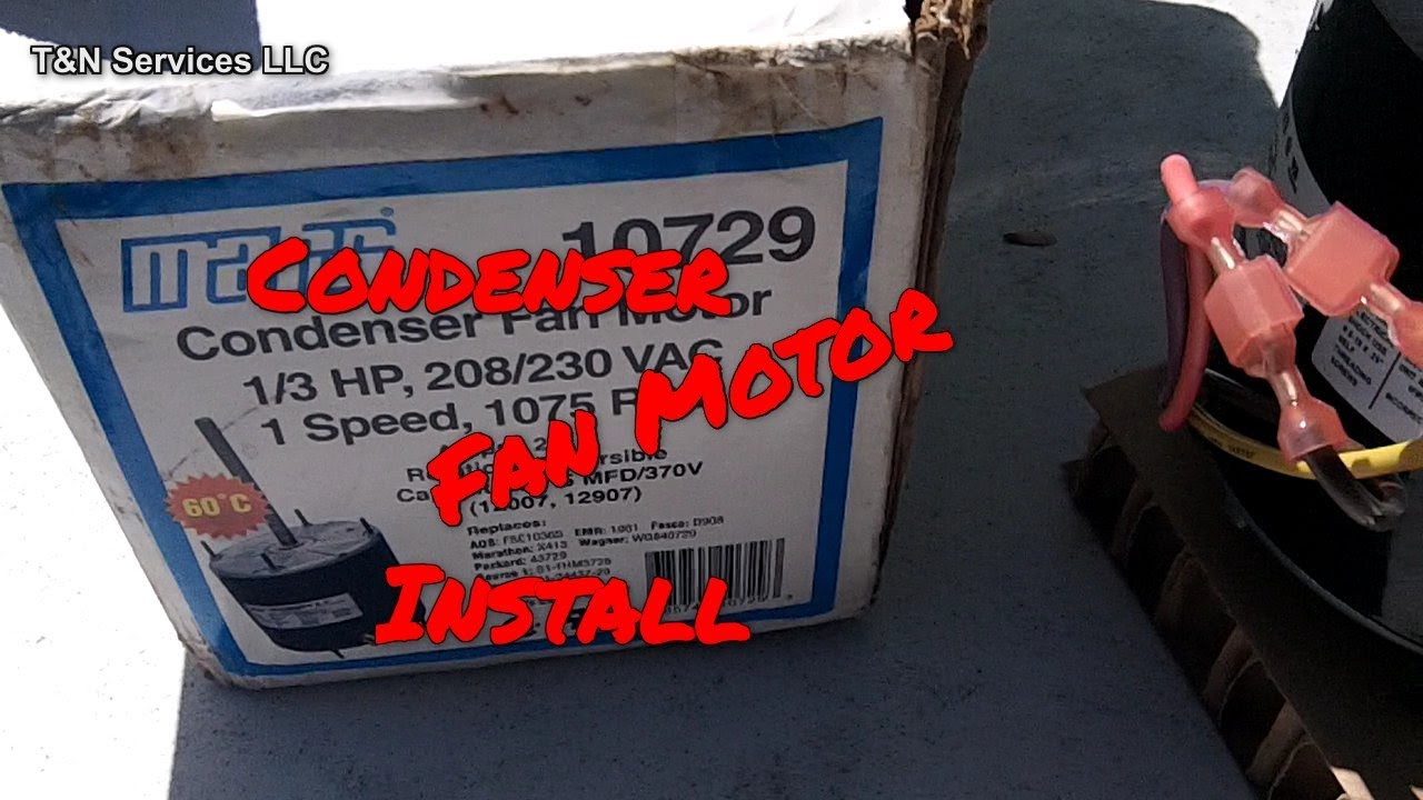 How To Install An Aftermarket Condenser Fan Motor Youtube Electric Wiring Diagram In Addition Dayton