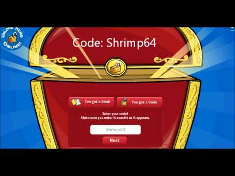 """Jump to Book Codes. Using Club Penguin book codes. You don't need access to the actual Club Penguin book if you have our Club Penguin Book Cheats! In order to use a Club Penguin Book Code, just follow these steps: Go to the Club Penguin login page. Click the """"Unlock Items Online"""" button on the lower-left of the island."""