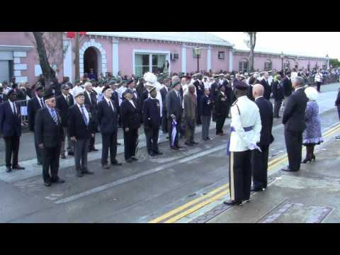 Governor Inspects Veterans Remembrance Day Parade Bermuda November 11 2011