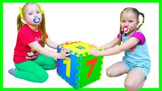 Милли и Ева умеет считать игрушки