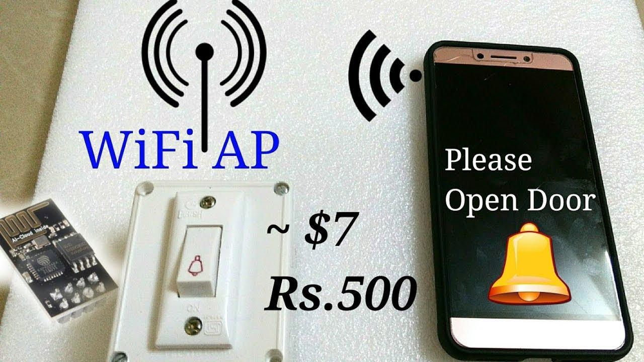 WiFi (Wireless) Doorbell using IoT esp8266 AP mode