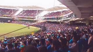 DHONI... DHONI... DHONI... || FANS GONE CRAZY WHEN MSD ENTERING INTO STADIUM || #INDvsAUS