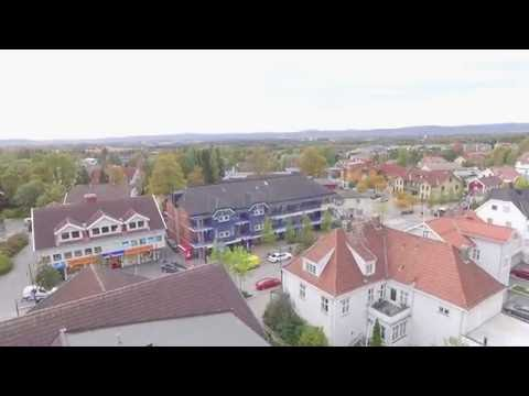 Dji Phantom 3 Advance - flying around Jessheim shopping mall, Norway