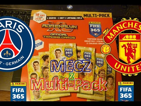 Ale Mecz Manchester United kontra Paris St Germain - MULTI PACK Fifa 365 Panini - Limited Edition