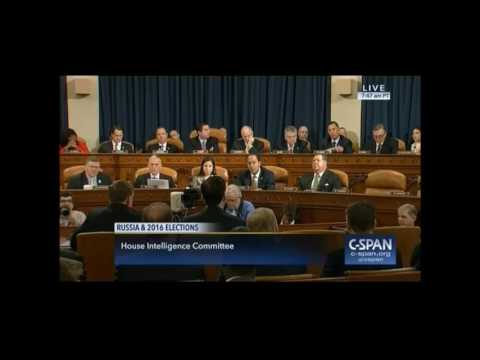Congressman Tom Rooney questioning during HPSCI open hearing