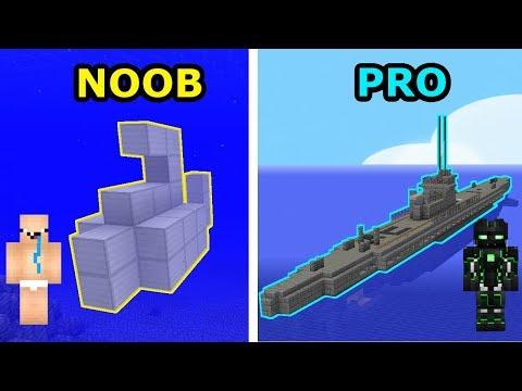 Minecraft NOOB VS PRO- ŁÓDŹ PODWODNA W MINECRAFT!