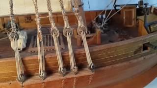 Модель  парусного корабля из дерева своими руками