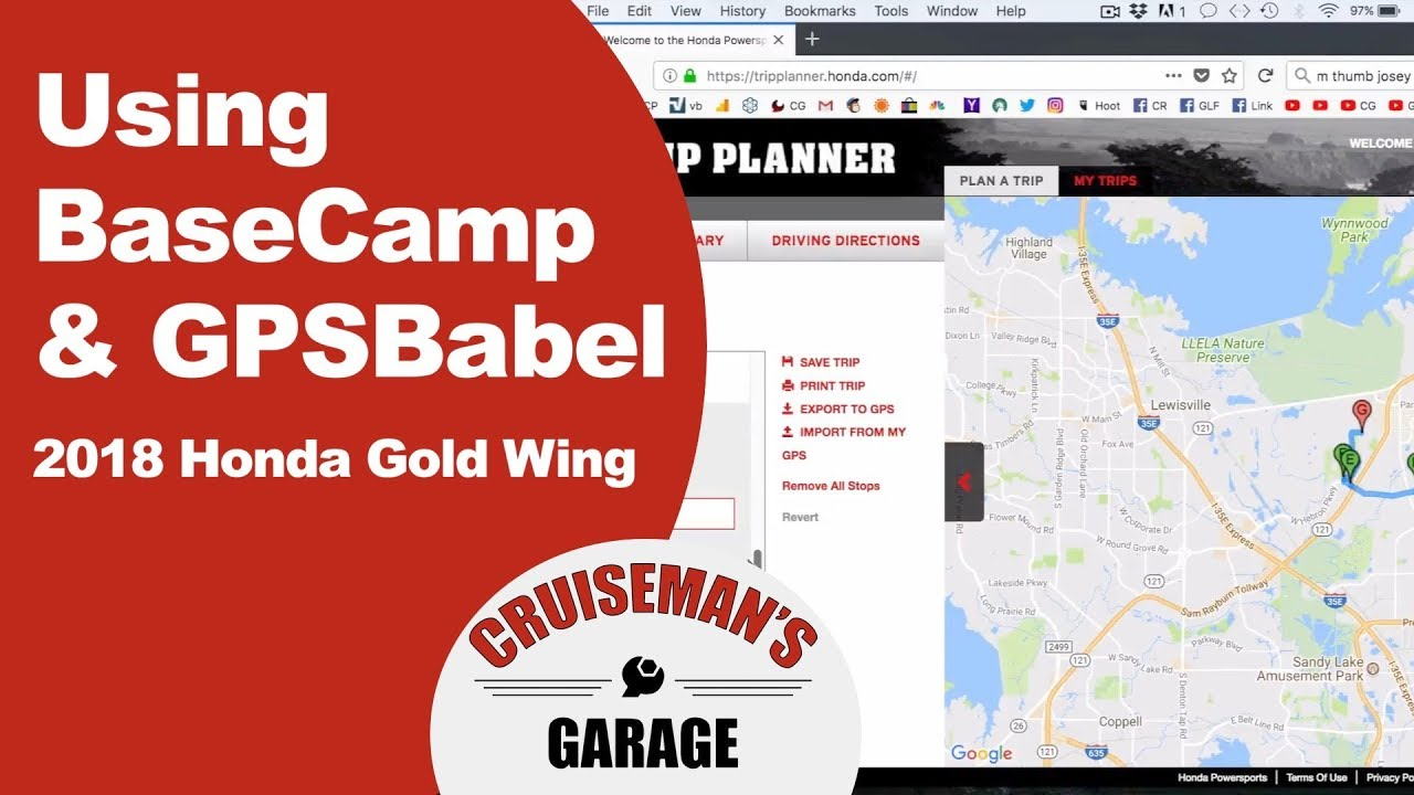 Importing Routes Using BaseCamp and GPSBabel - 2018 Honda Gold Wing