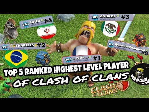 TOP 5 RANKED HIGHEST LEVEL PLAYER OF CLASH OF CLANS | WORLD RECORD | Clash Of Clans