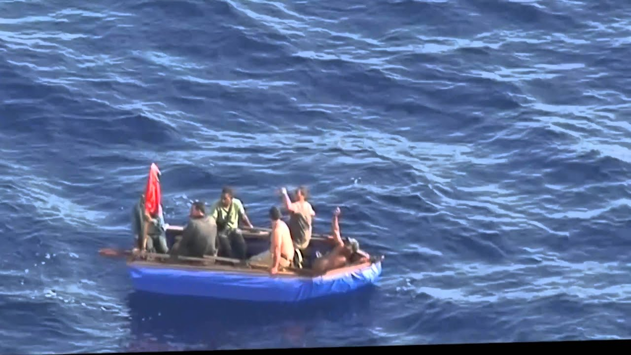 Cuban Refugees In Raft Youtube