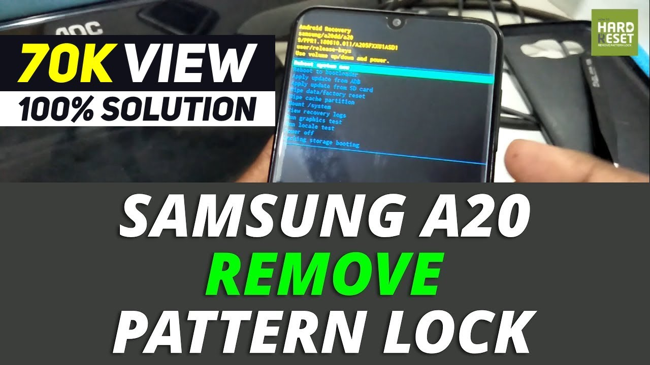 How to remove Pattern Lock Samsung A19 - YouTube