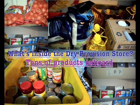 Whats inside the Dry Provision store on Merchant Navy Ships?#100vlogsatsea| vlog#26