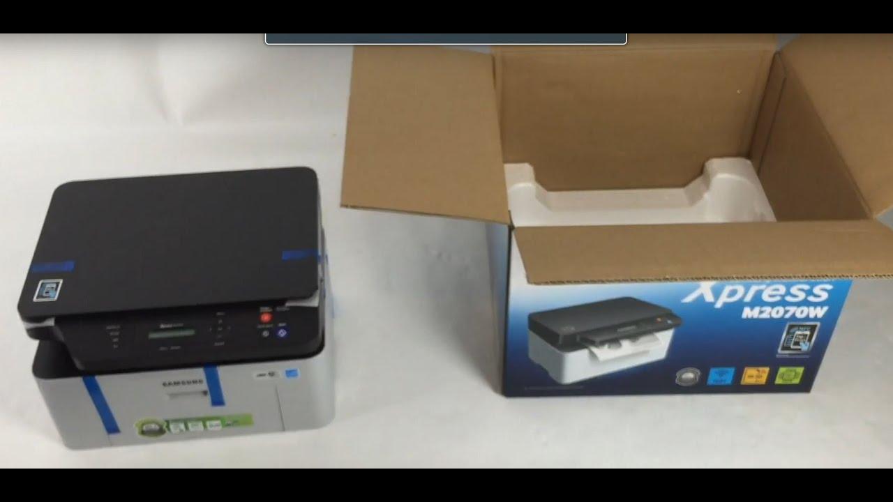 Unboxing Inbetriebnahme Samsung SL-M9W 9-in-9Laser Multfunktionsgerät  (WLAN, USB) Scanner Drucker