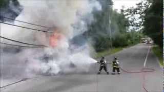 Tow Truck Fire Jackson NJ 8/12/13
