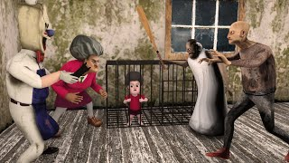 Scary Teacher 3D Animation - Resuce Miss T's Baby from Granny and Grandpa - Game Animation