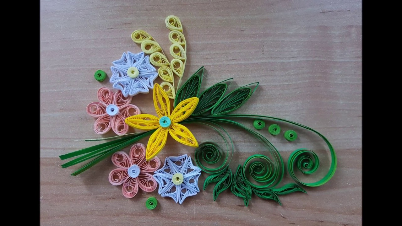 Quilling Fleurs Flowers Modele 4 Youtube