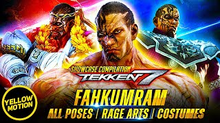 TEKKEN 7 FAHKUMRAM Showcase - All INTRO / WIN Poses / Rage Arts With All SPECIAL DLC COSTUMES [4K]