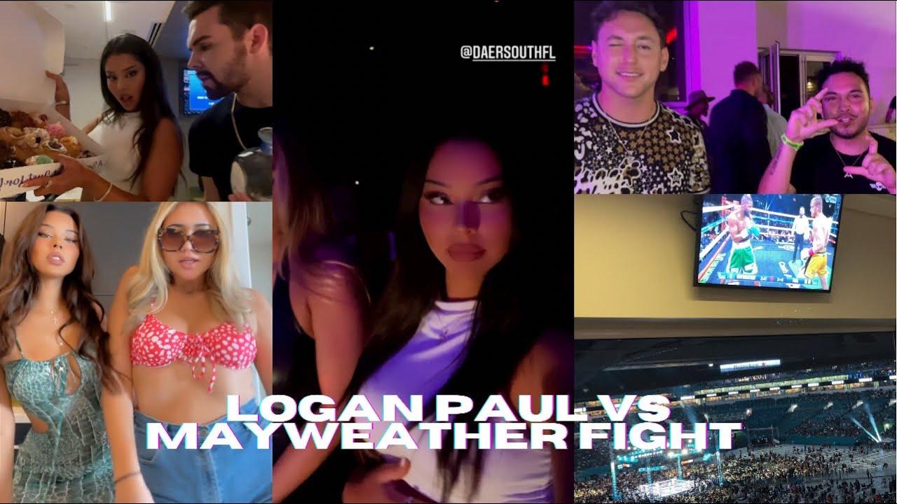 I WENT TO THE LOGAN PAUL VS MAYWEATHER FIGHT | MIAMI VLOG | TIANA MUSARRA