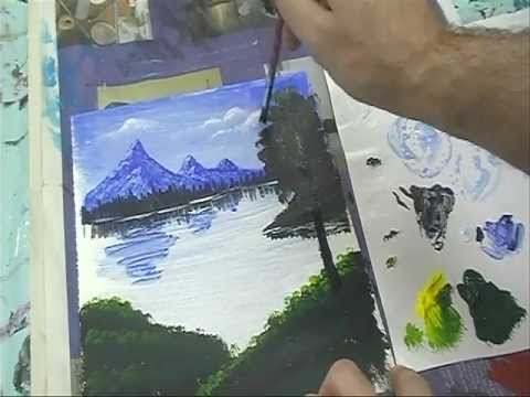 Pommer's Acrylic Landscape Tutorial, Part 3