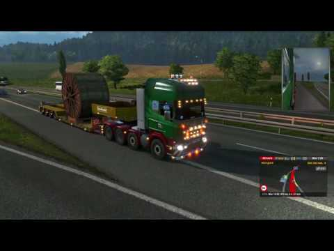 Euro Truck Simulator 2 Industrial Cable Rolls Kosice (SK) to Zurich (CH) Part 3