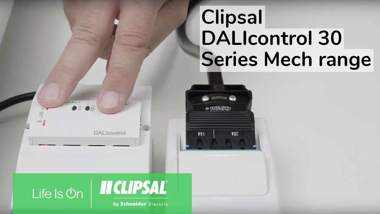 Clipsal Dalicontrol 30 Series Mech Range Think Differently About Dimmer Wiring Diagram Lighting Control We Did Youtube