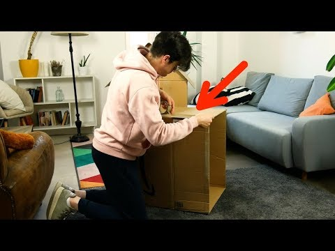 Put 2 Cardboard Boxes In Your Living Room For This Great DIY Craft!