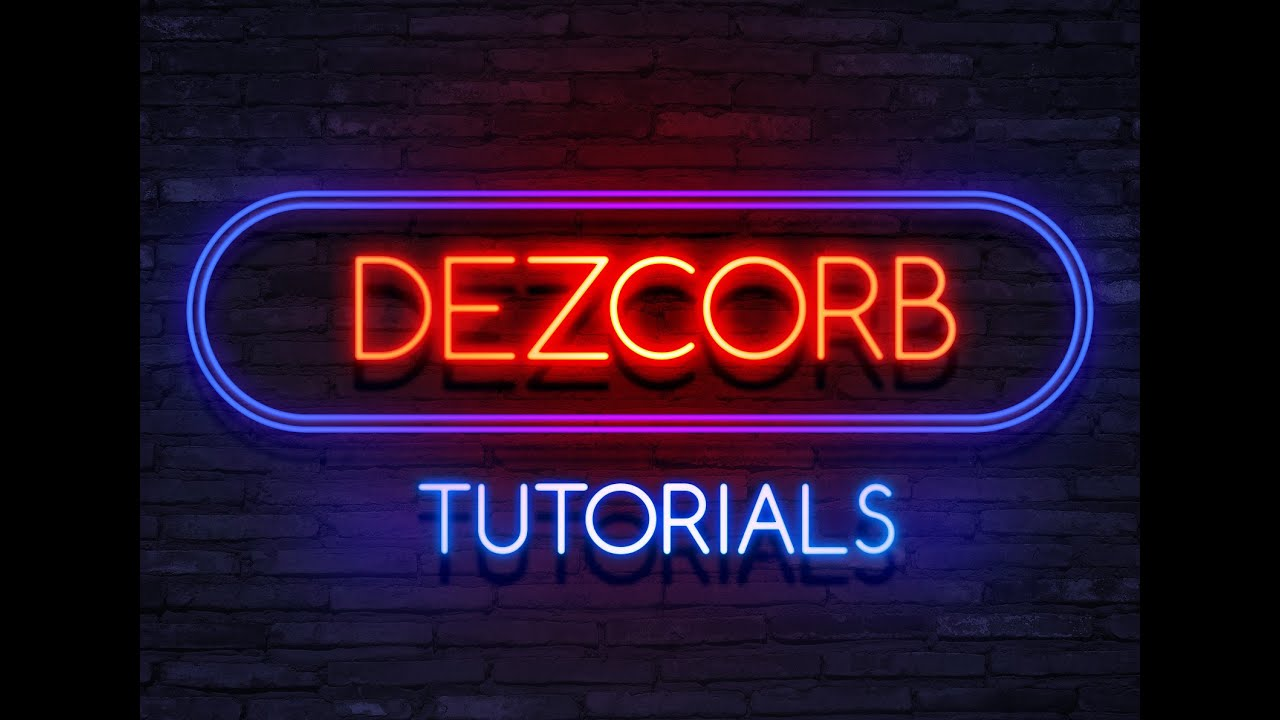 How to make 3d text in photoshop cs6 extended neon light how to make 3d text in photoshop cs6 extended neon light photoshop template 22 youtube baditri Image collections