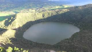 Guatavita Lake: Legend of El Dorado Bogota, Colombia Phantom 3 drone video