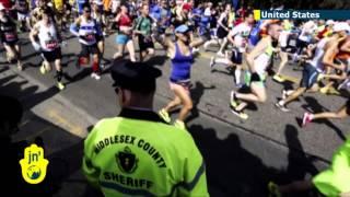 Boston Marathon: 36,000 runners compete on first anniversary of Islamist terror attack