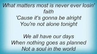Keith Urban - You're Not Alone Tonight Lyrics