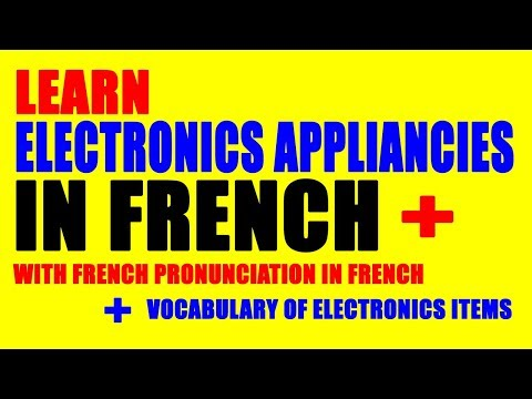 Electronic appliances in French | electronics item in french