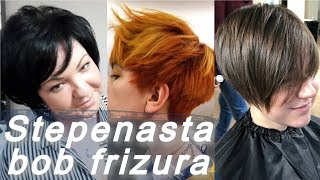 Top 20 🌺 trendi stepenasta bob frizura