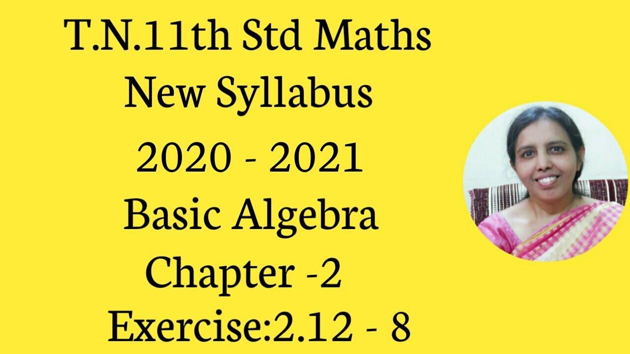 T.N.Class 11 maths New Syllabus (2020 - 2021) Basic ...