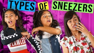Types of Sneezers - Embarrassing Moments - Funny Skits // GEM Sisters