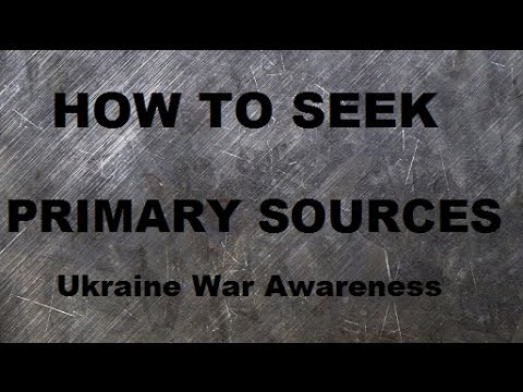 Some advice on how to seek Primary Sources!