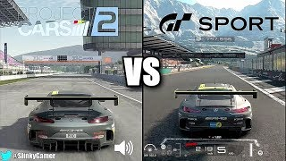 Project CARS 2 vs Gran Turismo Sport - Graphics and sound comparison Mercedes AMG GT3