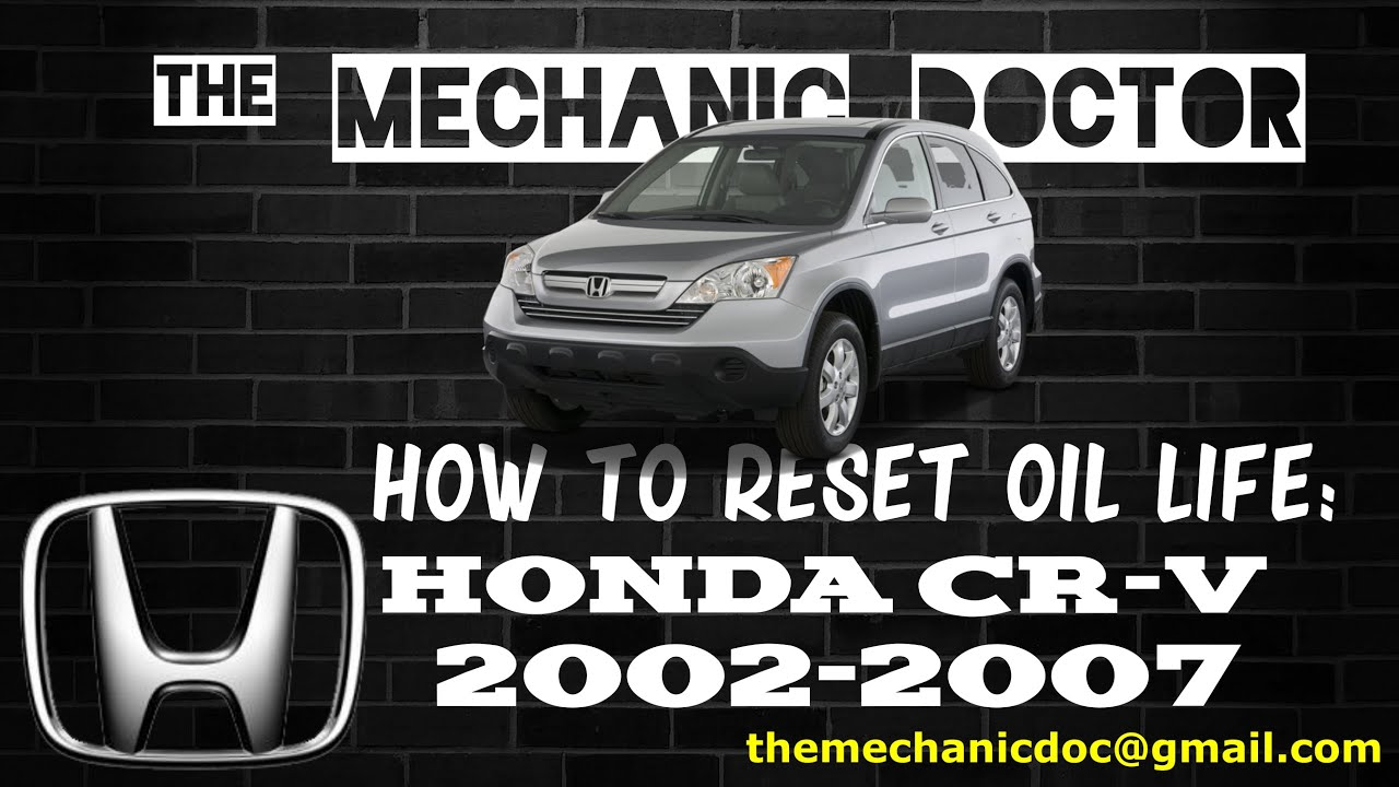 2006 Honda Cr V >> How to Reset Oil Light: Honda CR-V 2002, 2003, 2004, 2005, 2006, 2007. - YouTube