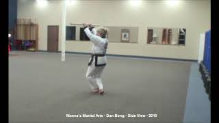 Dan Bong - Side View - Manna's Martial Arts - 2009