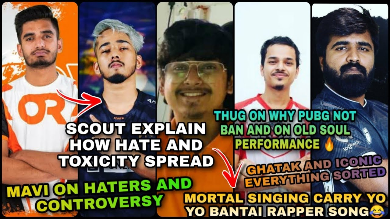 MORTAL SINGING CARRYMINATI SONG😂 | THUG ON WHY PUBG NOT BAN | GHATAK AND ICONIC SORTED | SCOUT | OR