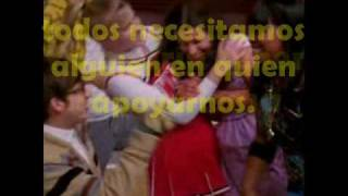 Lean on me - Glee cast (Traduccion en español)