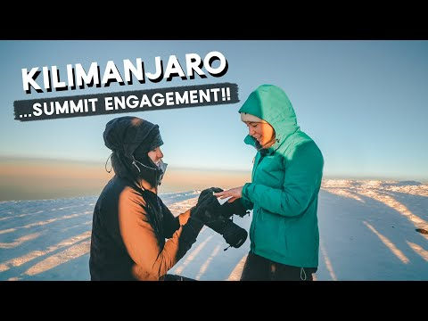 ENGAGED on the SUMMIT!   Climbing Mount Kilimanjaro (part 2)